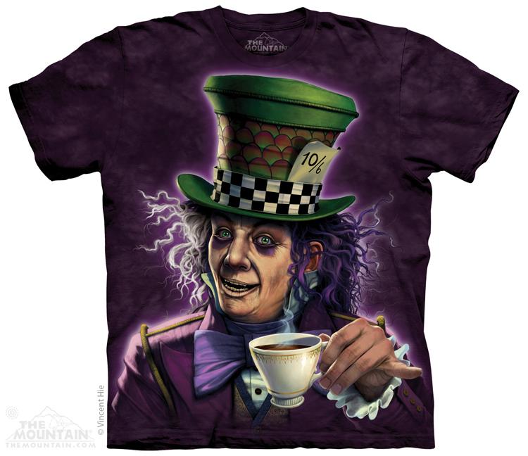 Men and women 100% cotton 3D t shirt THE*MOUNTAIN MAD HATTER Magician short-sleeve t-shirt(China (Mainland))