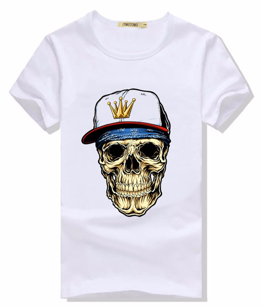 t shirt men skull tshirt cool 3d crane tee shirt tete de. Black Bedroom Furniture Sets. Home Design Ideas