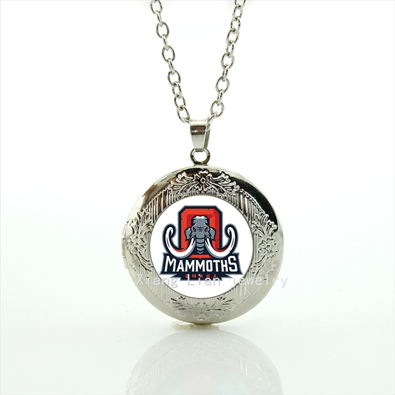 Cute animal picture locket necklace Alabama team Newest mix 32 NFL team jewelry gift for men and women accessory NF075(China (Mainland))