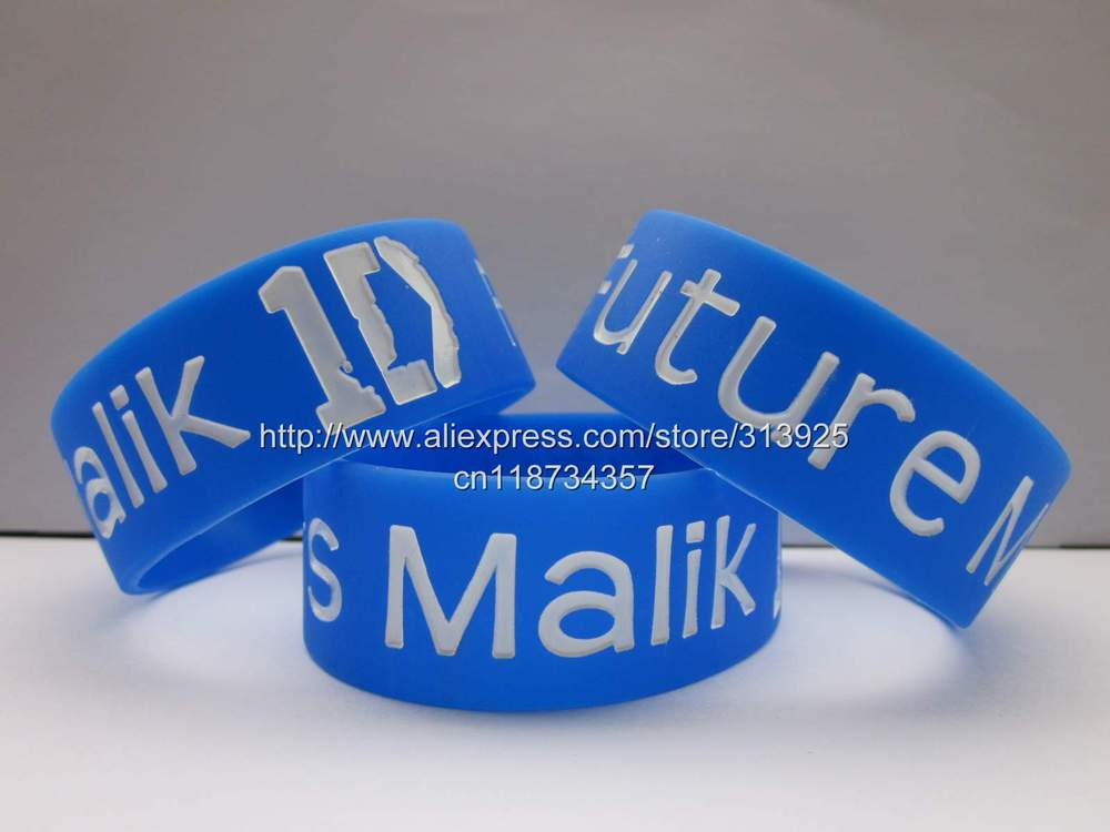 "Future Mrs Malik Wristband One Direction Band Zayn Fan Bracelet Free Shipping,50pcs/lot,silicone debossed 1"" band(China (Mainland))"