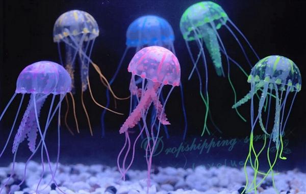 Tank high simulation jellyfish aquarium landscaping for Aquarium jellyfish decoration