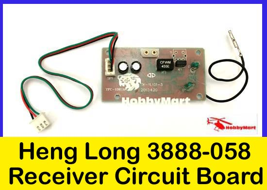 3888-058 Replacement Receiver Circuit board for HENG LONG 1:16 3888 RC Tank x 1(China (Mainland))