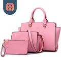3 pieces Tote Purse Cross Body bag set Brand Designer Faux Saffiano Leather winged Handbag women