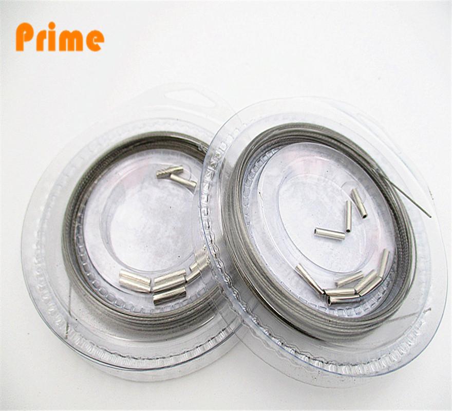 1*7 Fishing steel line sus304 lead line wire Lead Fish Jigging Line(China (Mainland))