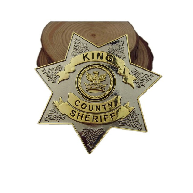 The Walking Dead Rick Grimes' County Sheriff Alloy Badge Brooch