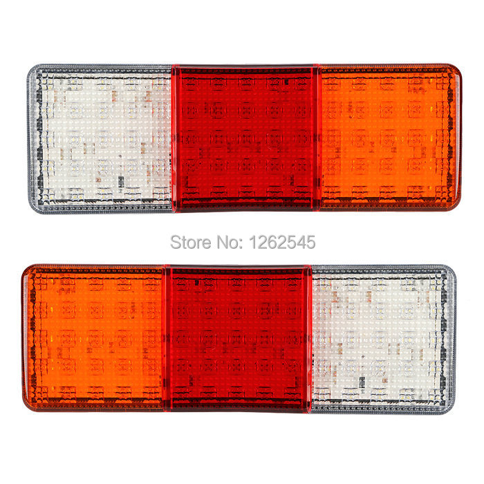 75leds 12v truck rear lights led trailer taillights lorry tail lights. Black Bedroom Furniture Sets. Home Design Ideas
