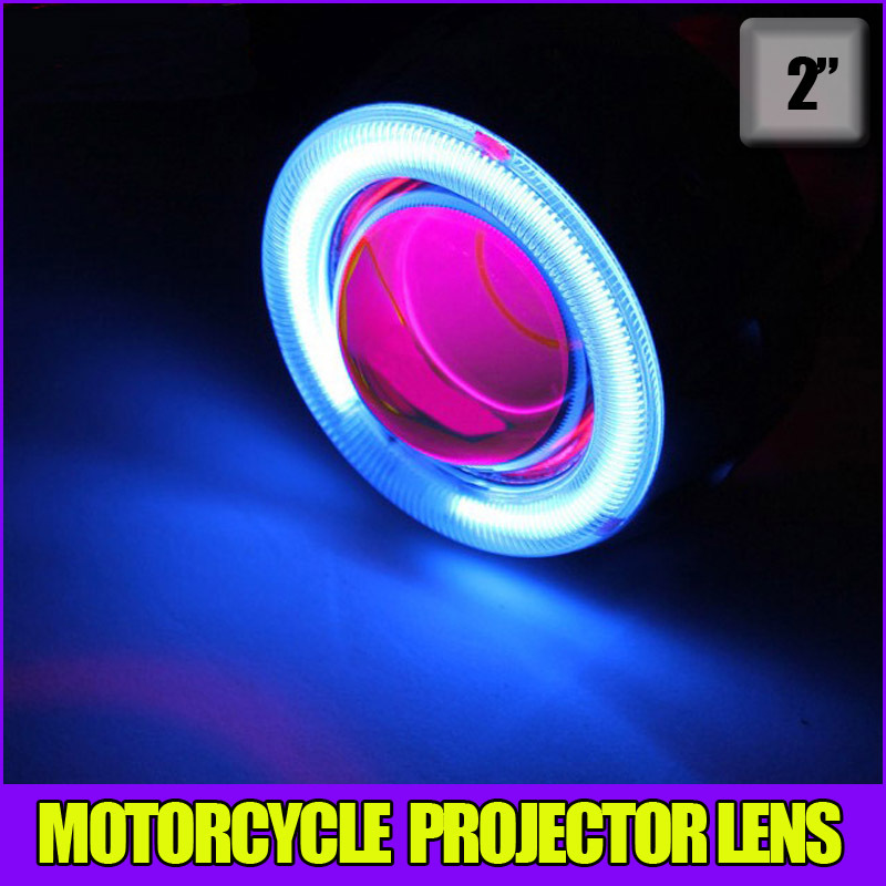 Motorcycle 35w 2 inch Hid Bixenon Projector Lens Headlight Kit 6000k 4300K Blue Green Red Yellow White CCFL Angel Eye