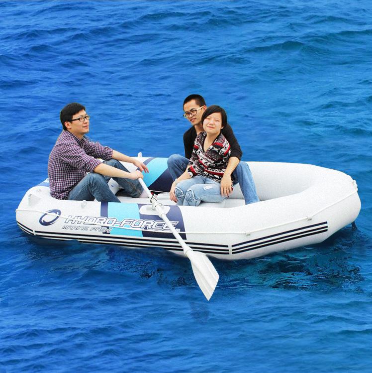 Tarpaulin inflatable boat 4 person canoe fishing boat for 3 person fishing boat