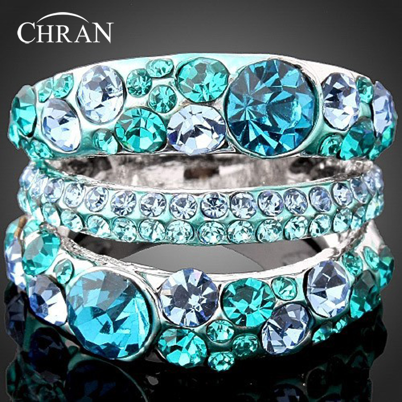 Gold Plated Promotion Austrian Crystal Rhinestone Imitation Diamond Rings Women Men Jewelry (DFDR0047) - Chran Store store