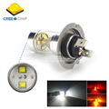 2x H7 30W DC12V 24V CREE Chip LED With Lens Fog Light Driving Lamp Bulb Auto