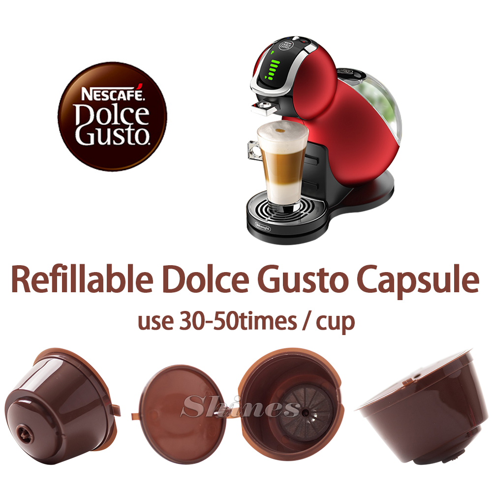 3pcs/pack Refillable Dolce Gusto coffee Capsule nescafe dolce gusto reusable capsule dolce gusto cap