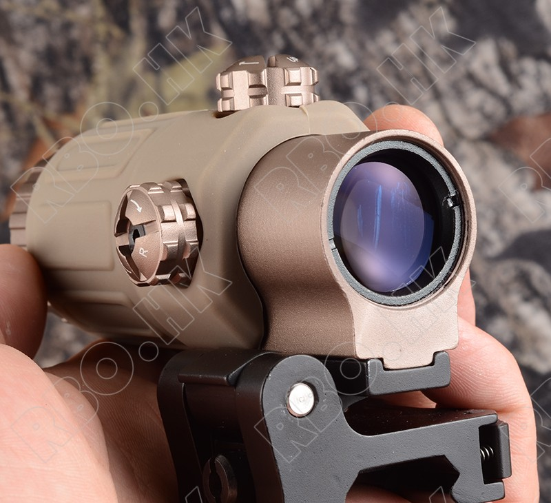 3X Magnifier lens for side flip mount fit Red dot sight scope picatinny weaver rial mount base DE M1243(China (Mainland))