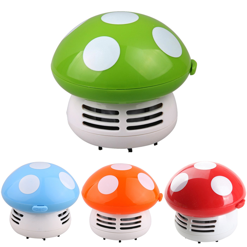 Hot Cute Mini Mushroom Corner Desk Table Dust Vacuum Cleaner Sweeper Unique small vacuum hand held sweeper ZH01174(China (Mainland))