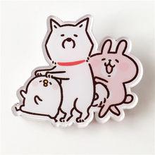 1 шт Рюкзак акриловый значок джинсы брошь для одежды декоративный значок Кролик серии(China)