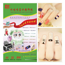 (100pcs/lot) A4 Decal Paper Inkjet Water Slide Decal Paper For Nail Clear/Transparent Inkjet Waterslide Decal Paper Feeshipping(China (Mainland))