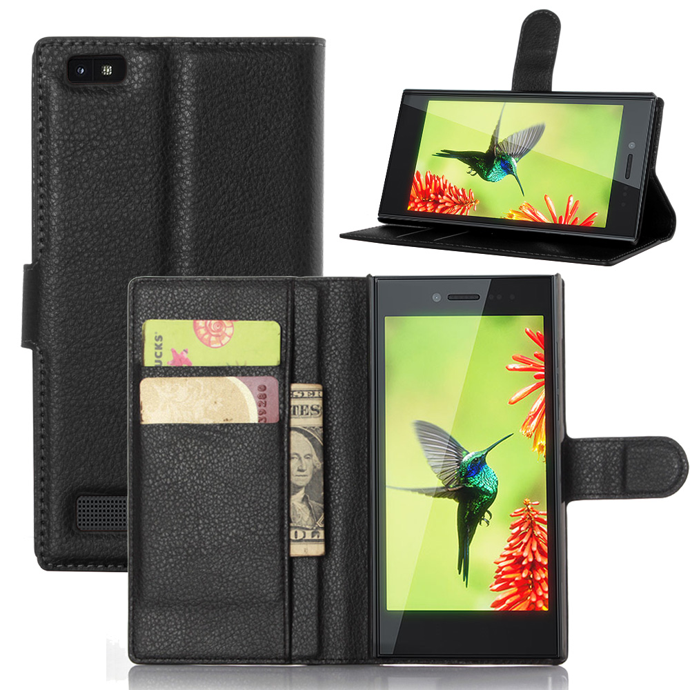 Wallet Style Flip Leather Case for BlackBerry Leap With Card Slot Sander Function Cover for BlackBerry Leap(China (Mainland))
