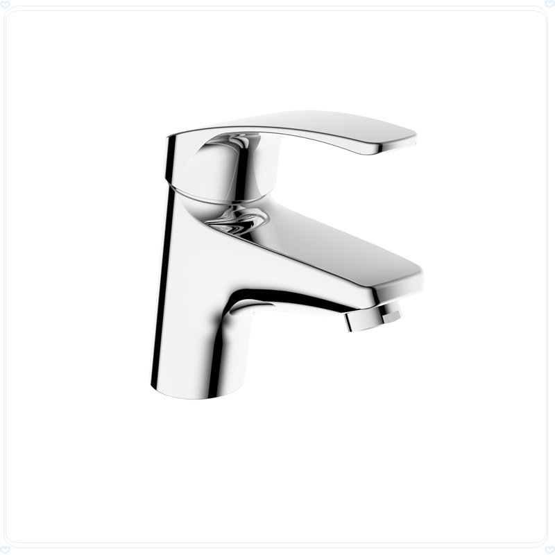 Hot And Cold Brass Double Single Hole Fashion Ceramic Cartridge Faucet Bathroom In Basin Faucets