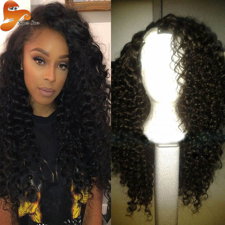 Virgin Human Hair U Part Wig 9