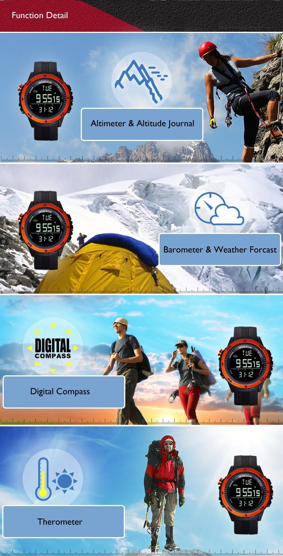 Sportstar открытый Master2 спорт туризм часы 3 дополнительных цветов, Высотомер, Therometer, Барометр, Прогноз погоды
