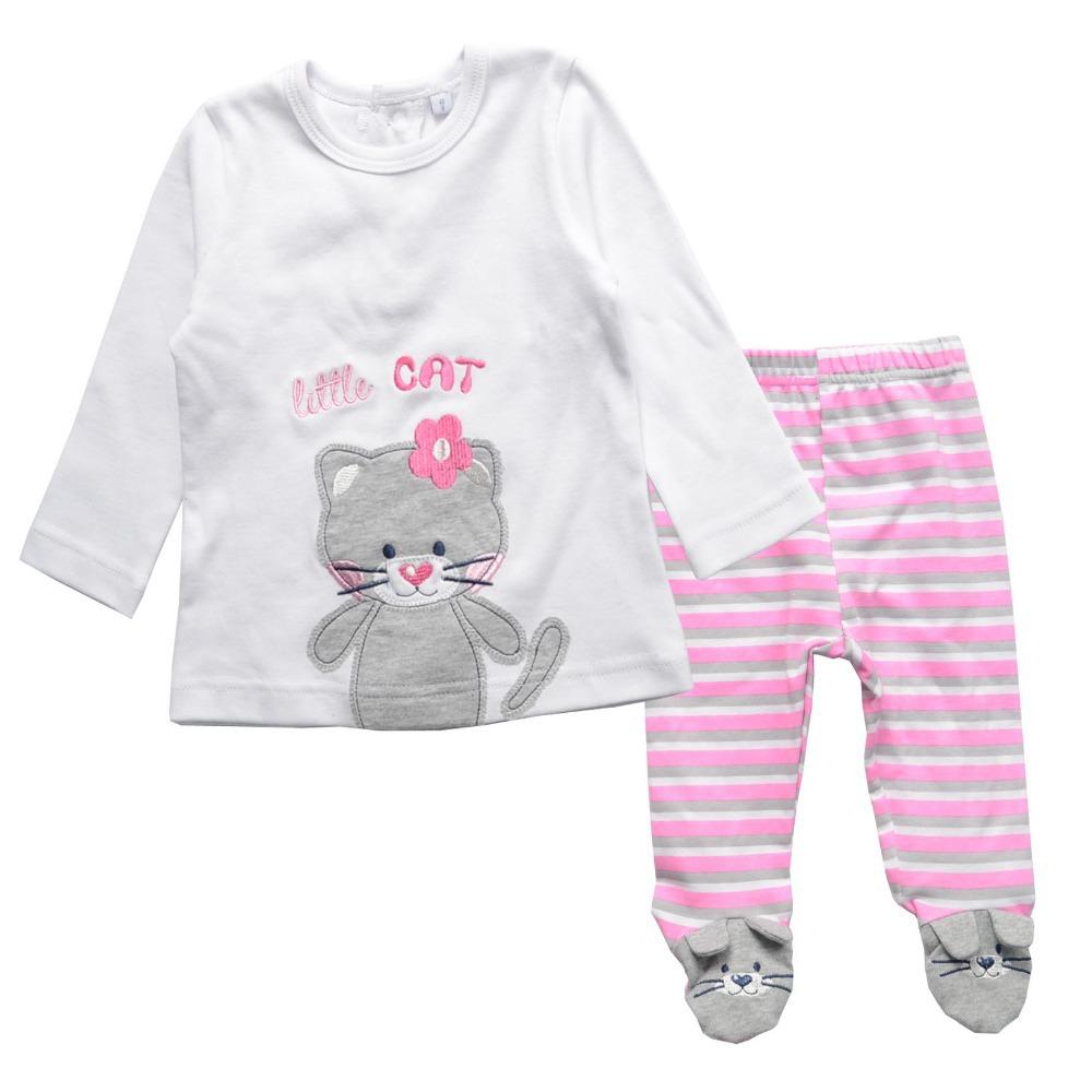 Гаджет  TOK TIC spring/autumn baby girl cotton long sleeve t shirt +pant 2pcs kids cartoon clothing set newborn rompers fits 6M-24M None Детские товары