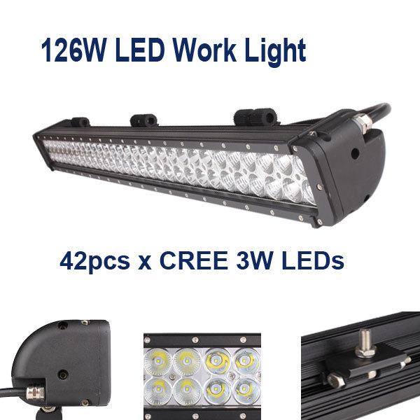 2014 Cree 126W LED work light bar 10-30V SPOT Flood Beam Truck/Trailer/SUV/Off road/ Boat/ATV tractor working lamp - Happy Buy -Frnova Tech store