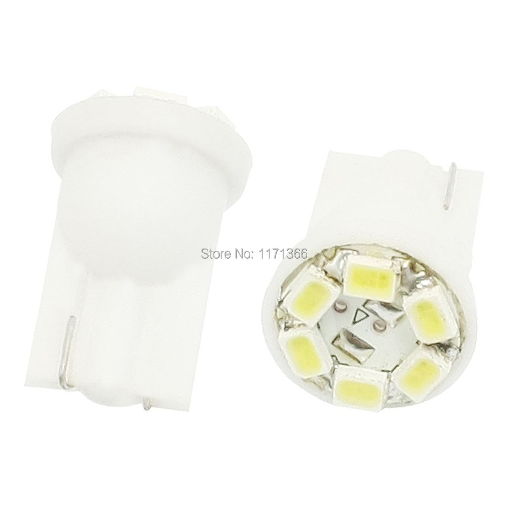 10 Car White 6 LED 3020 1206 SMD T10 W5W Bulb Wedge Side Light Lamp,Clearance - Tomshow store