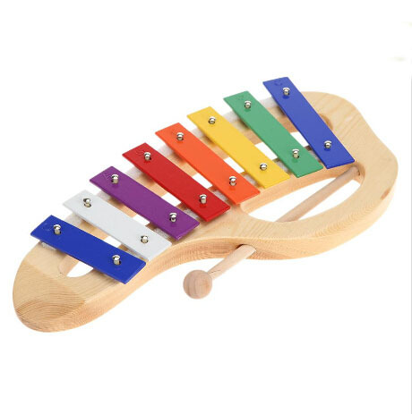Musical Instrument Wood Xylophone 8-Note with Handle Wooden Mallet Stick Percussion Toddle Kid Musical Toy(China (Mainland))