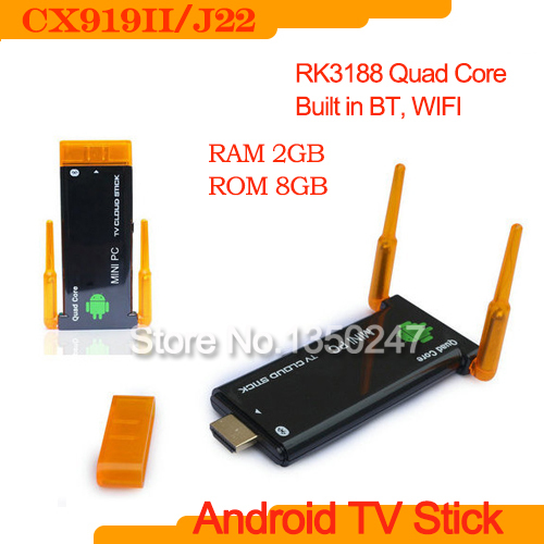 CX919 II Better than MK809IV Android 4.2 RK3188 Quad Core 8G ROM Built-in Bluetooth Dual External Antenna TV dongleJ22 CX-919 II(China (Mainland))