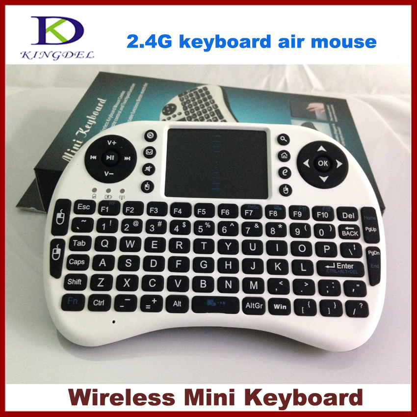Black and White Mini Keyboard 2.4G Wireless Keyboard Mouse Touchpad Design for PC Notebook Android TV Box Handheld Keyboard HTPC(China (Mainland))