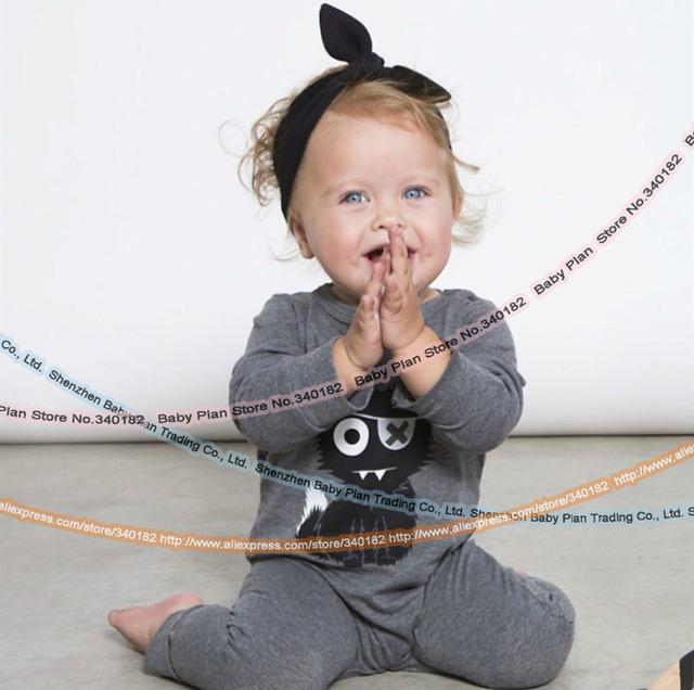 2016 Новая Мода детская одежда установить мужской Хлопка С Длинными Рукавами маленькие ...