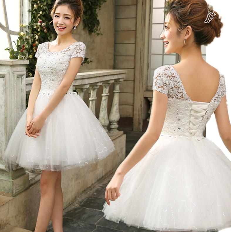 Купить Короткое Пышное Платье Белое