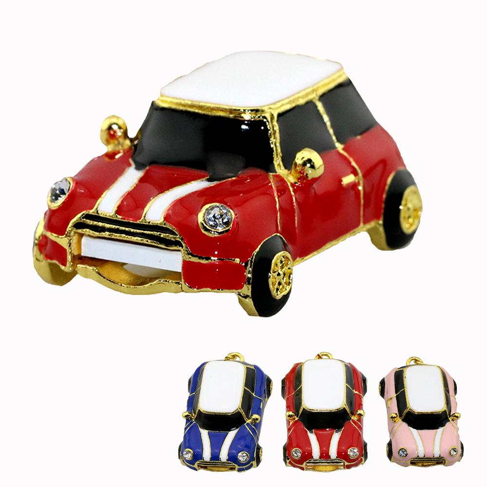 Fashion Mini Car 128GB USB Flash Drive External Pen drive 64GB 32GB 16GB good quality Pendrives Creative pendrive best gift(China (Mainland))
