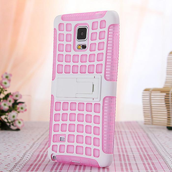For Samsung Note4 New Arrival Hot Selling Fresh Colors Hot Shock Proof Soft Phone Case Mix Colors Kickstand Back Cover PhoneCase(China (Mainland))
