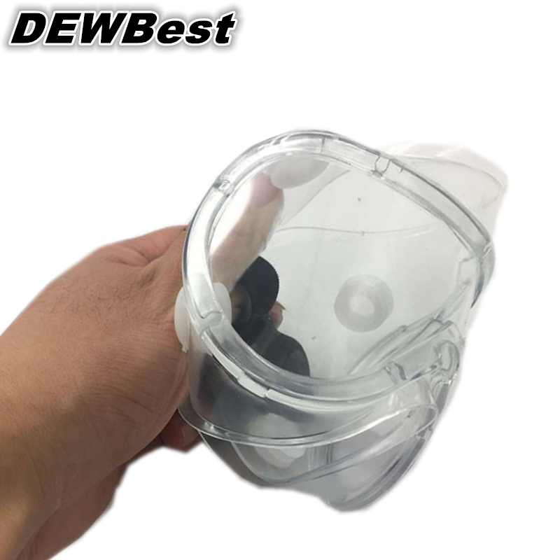 DEWBest 1PCS High quality Safety Glasses Transparent Protective Goggles Work Labour Eyewear Wind And Dust Resistant medical(China (Mainland))