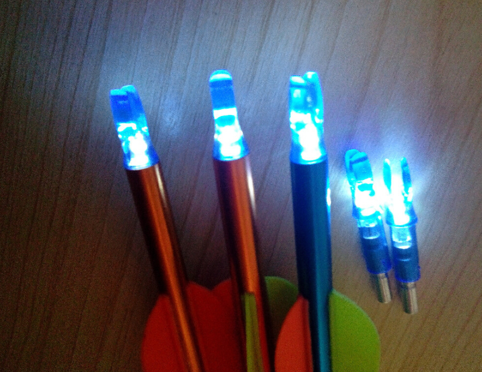 30pcs lighted LED arrow nock inserting carbon arrow for bow hunting +Free Shipping <br><br>Aliexpress