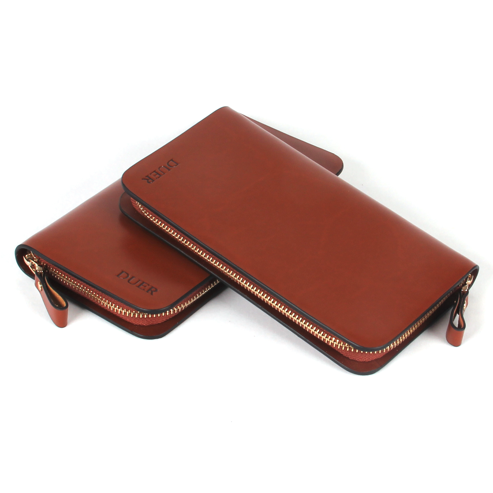 Duer wallet quality fashion cowhide male zipper women's fashion long design cowhide wallet(China (Mainland))