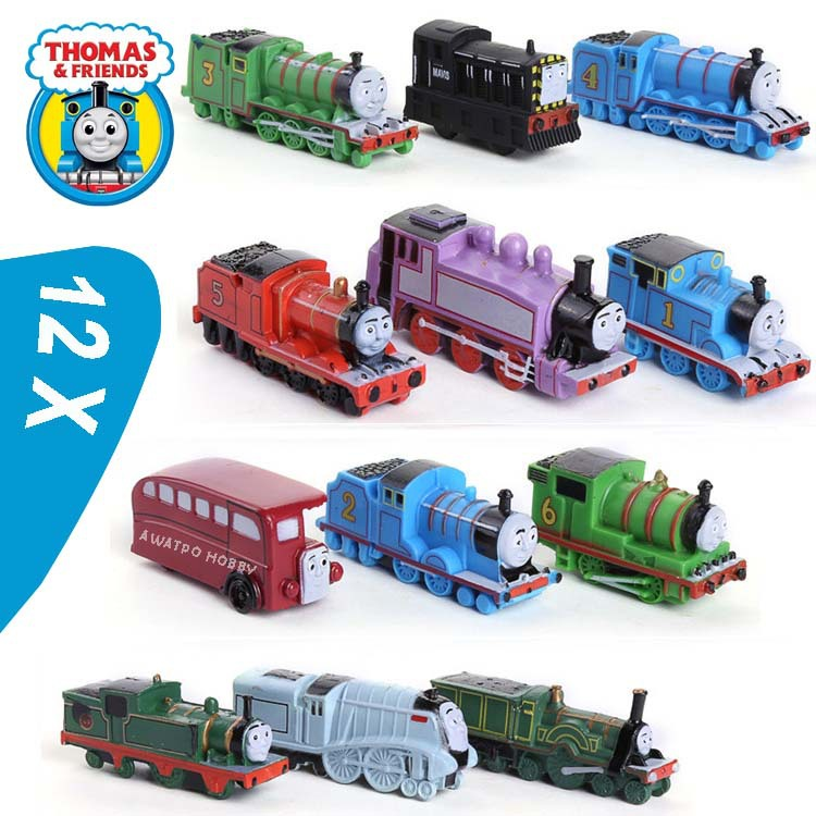 (12 pieces/lot) thomas and friends train the tank engine trackmaster Children's Educational Toys Cake Decoration(China (Mainland))