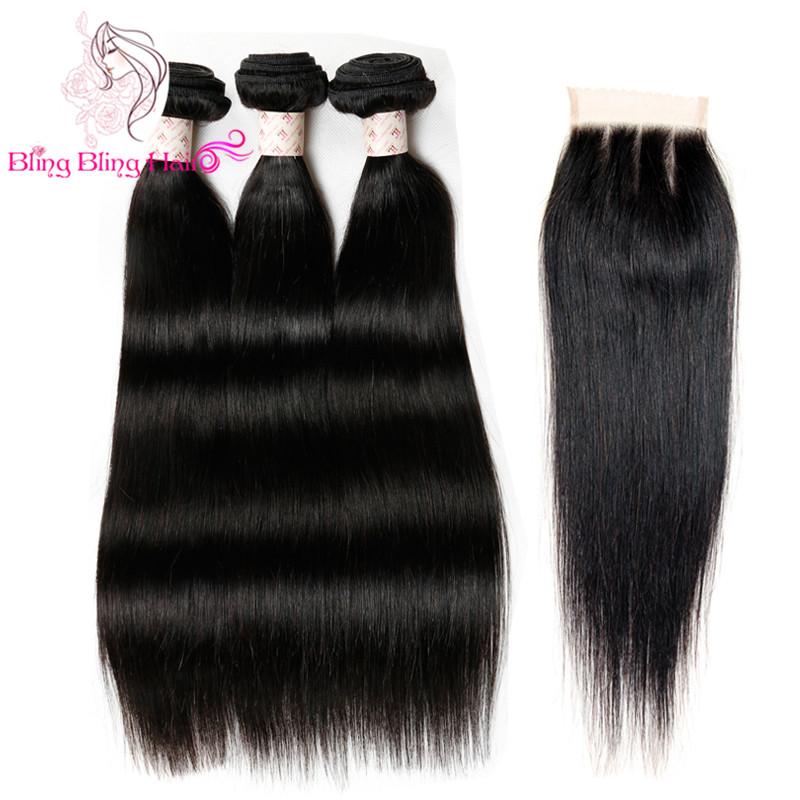 Cheap Human Hair With Closure Piece 7a Malaysian Straight Hair With