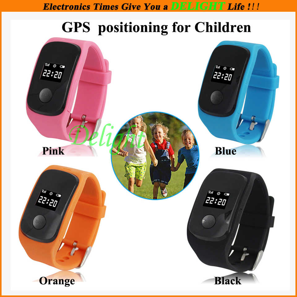 Smart Wrist Watches Kids GPS Positioning Family Quick Dail SOS Emergency GPS+LBS Locator Watch Gift (DL-W090) - Delight Technology Co., Ltd. store