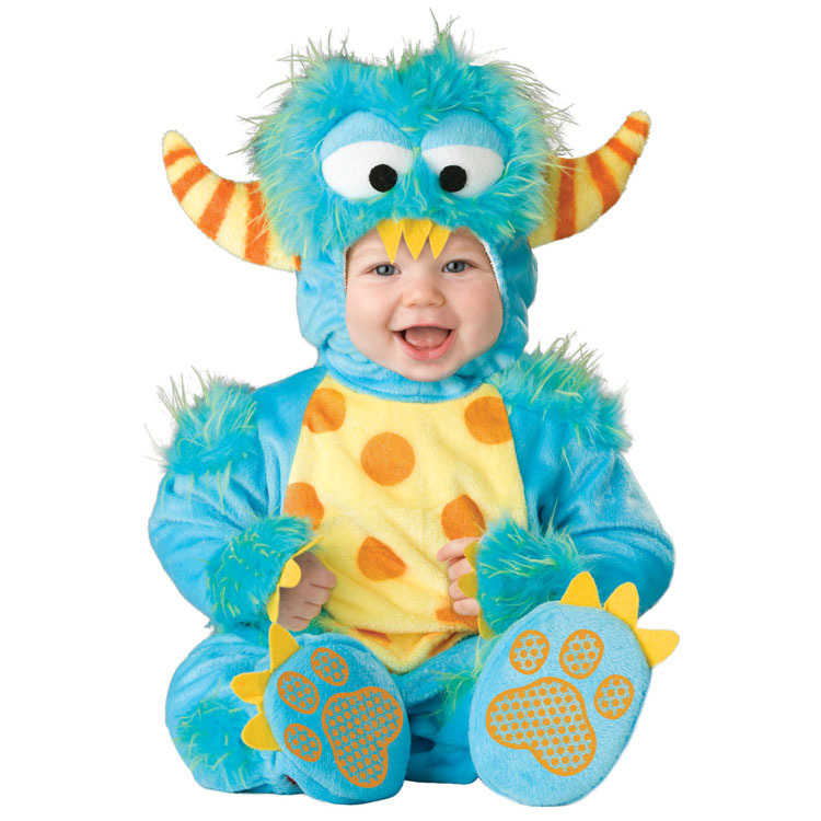 Lil' Monster baby Halloween costume Infant funny onesie Fantasia carnival Fancy dress Toddler baby party clothing(China (Mainland))
