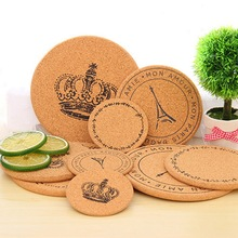 Cork Tree Drink Coffee Tea Coaster Cup Mat Japan Style Flexible resistant Round Drink Mats 3 Sizes for U to choose(China (Mainland))