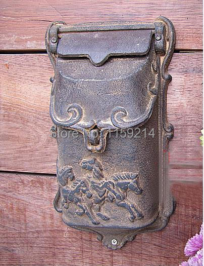 European style garden Iron Letter box newspaper mailbox Outdoor mailbox mural Wall hanging Garden decoration(China (Mainland))