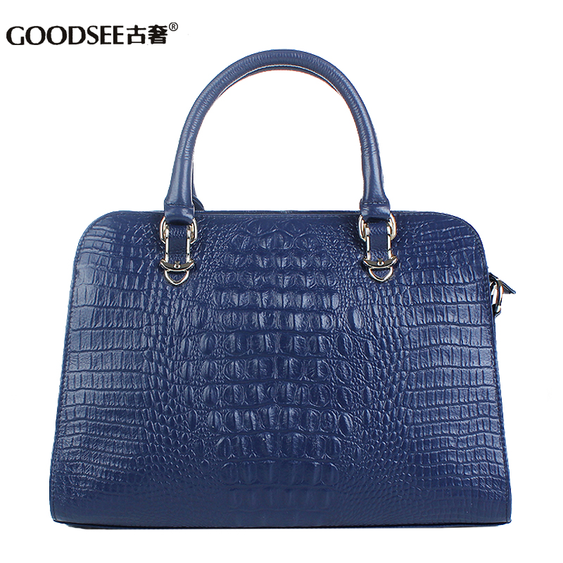 Genuine leather women's handbag 2014 totes bags first layer cowhide vintage crocodile pattern one shoulder bag - Yiwu Commodity Trading Company store