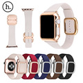 HOCO Modern Buckle Band for Apple Watch Strap Belt Top grain Leather Bracelet with Magnetic Closure