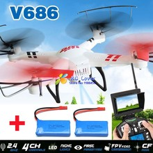 (With two batteries) Original WLtoys V686 V686G (FPV Version) 4CH drone With 2MP HD Camera RTF