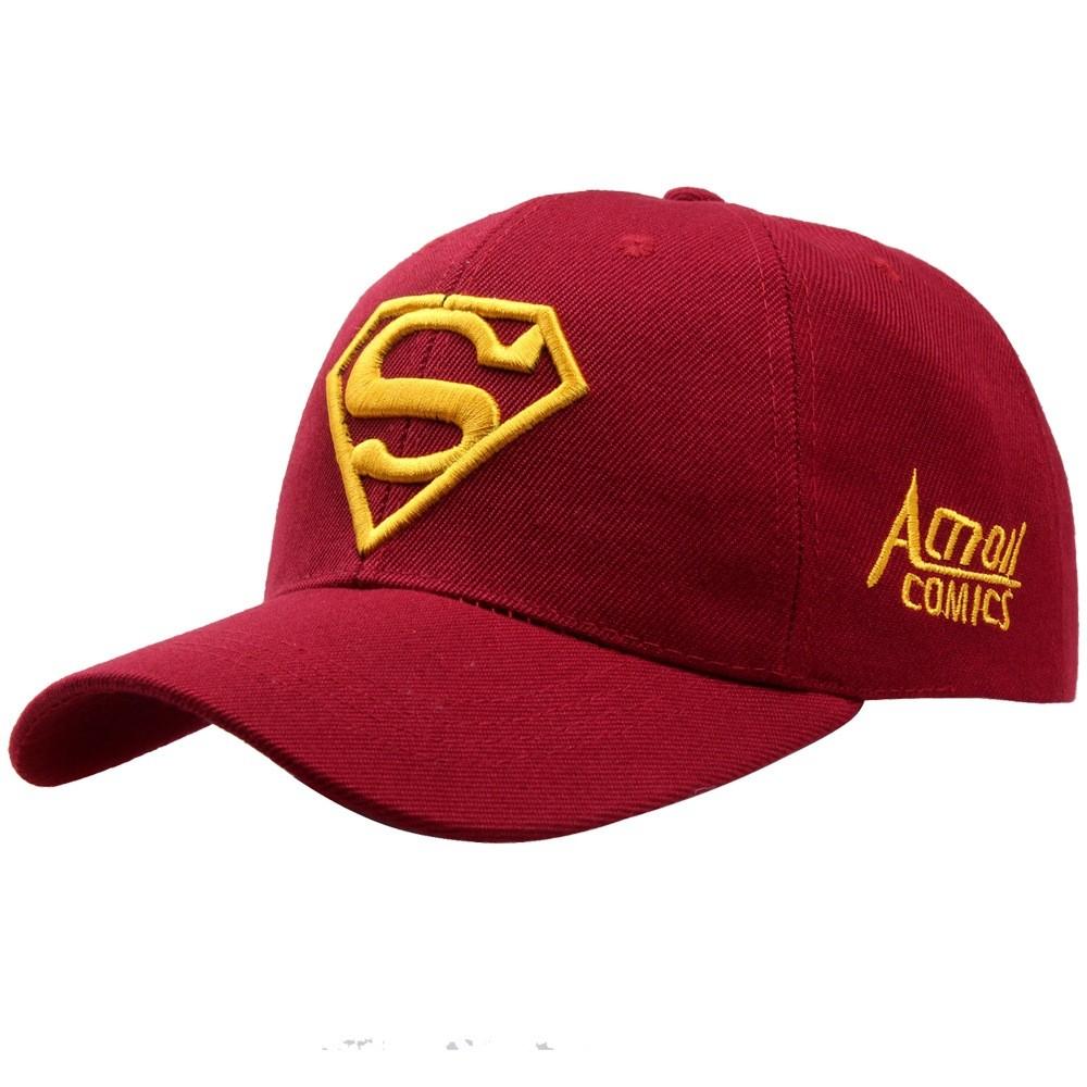 NEW hot women popular Baseball Cap Red black Iron Man men black make Pattern Superman cap Snapback Gorras High quality cap