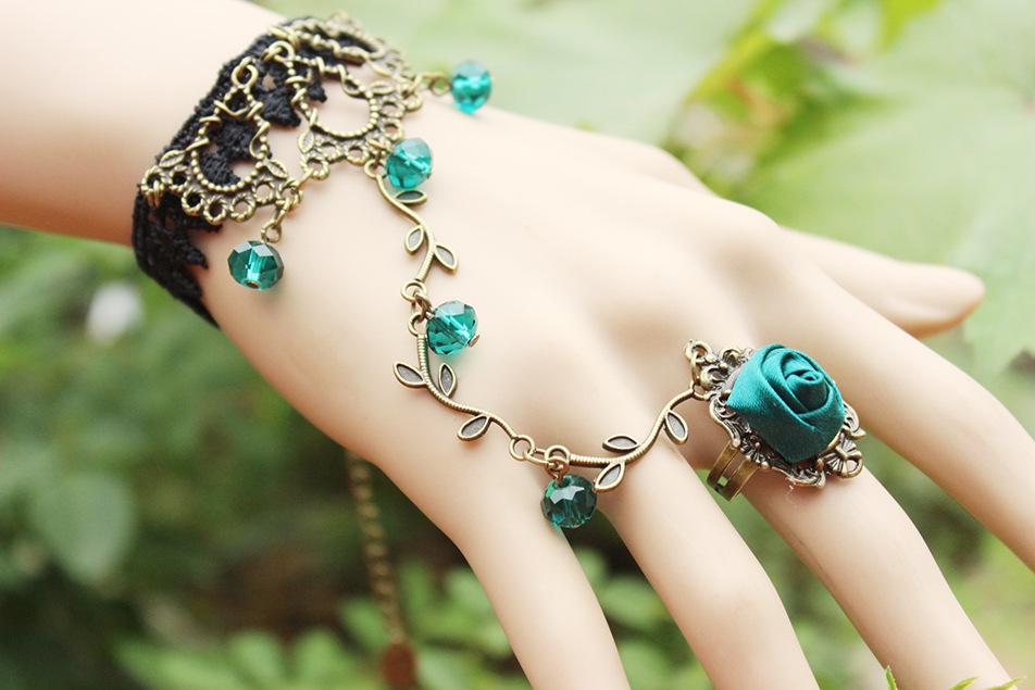 Retro flower vine Spirit Crystal Lolita temperament lace Bracelet Band bracelets & bangles - CDJLFH Online Store store