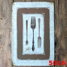 Buy Decor Iron Signs Restaurant Decorative Metal AD Art Vintage Tin Sign Western Restaurants Coffee Wall Ornament 20*30CM for $6.98 in AliExpress store