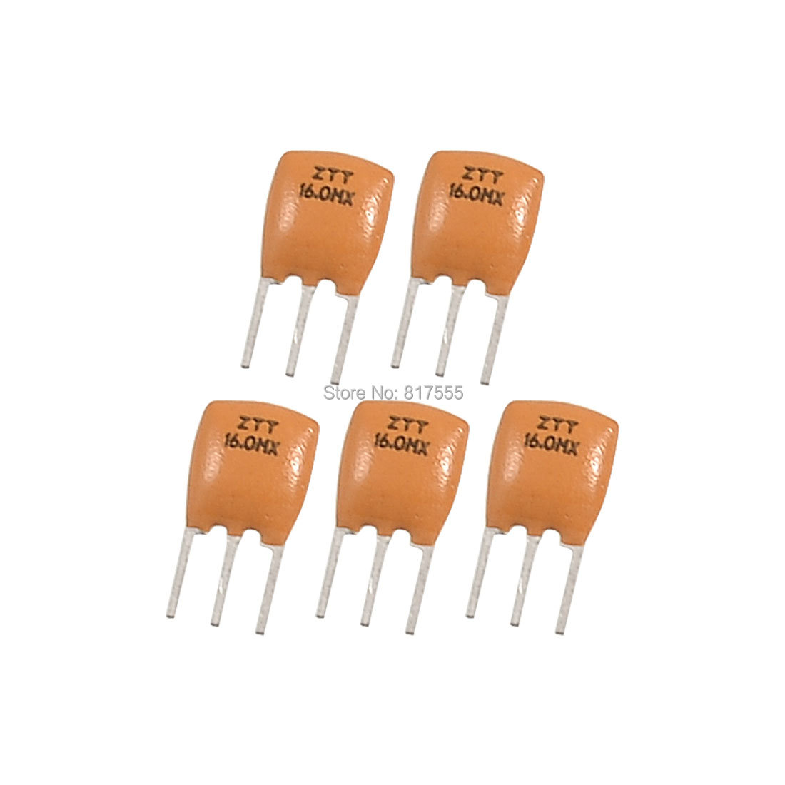 Uxcell a12092100ux0654 Radial Lead Ceramic Resonator 3 Pins ZTT Series, 16.000 MHz, 5 Piece.