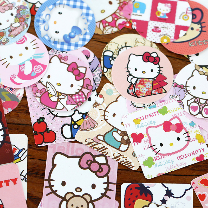 Buy 46 Pcs Lot Diy Hello Kitty Sticker For Kids Rooms Home Decor Diary Notebook